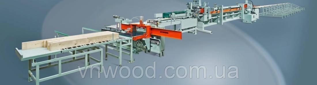 Напівавтоматична лінія поздовжнього зрощування деревини KADIS DFK-4/DPK-5