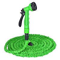 🔝 Поливочный шланг с распылителем X-hose (Икс Хоз) Magic Hose на 60 метров - зелёный   🎁%🚚
