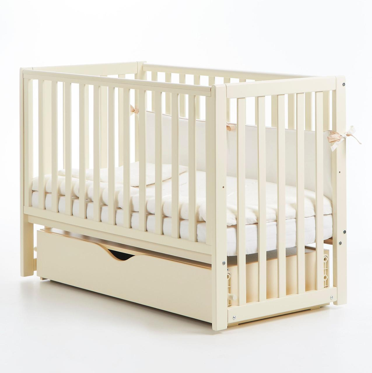 Детская кроватка Верес Соня ЛД 13 Слоновая кость маятник с ящиком