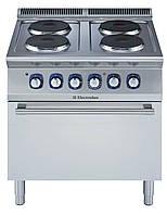 Плита электрическая (4 зоны нагрева по 2,6 кВт каждая) на электрическом жарочном шкафу