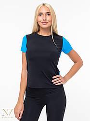 Женская Футболка Для Фитнеса Nova Vega Black&Blue