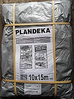 Тент Tenexim Mocny 10*15 м, готовые размеры в асс., плотный 120 г/м2 серебряный с УФ-защитой
