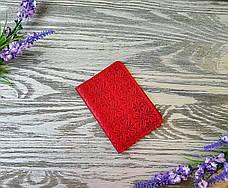 Обкладинка на права міні і id паспорт червона вишиванка суцільна, фото 2