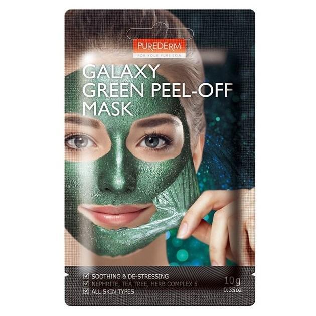 Заспокійлива маска-плівка зелена Purederm Galaxy Green Peel-off mask