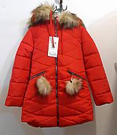 Куртка утепленная для девочек, 116,122,128 см,  № 14266-1Ра
