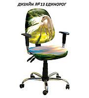 Кресло детское Бридж хром дизайн Единорог №13 (АМФ-ТМ)