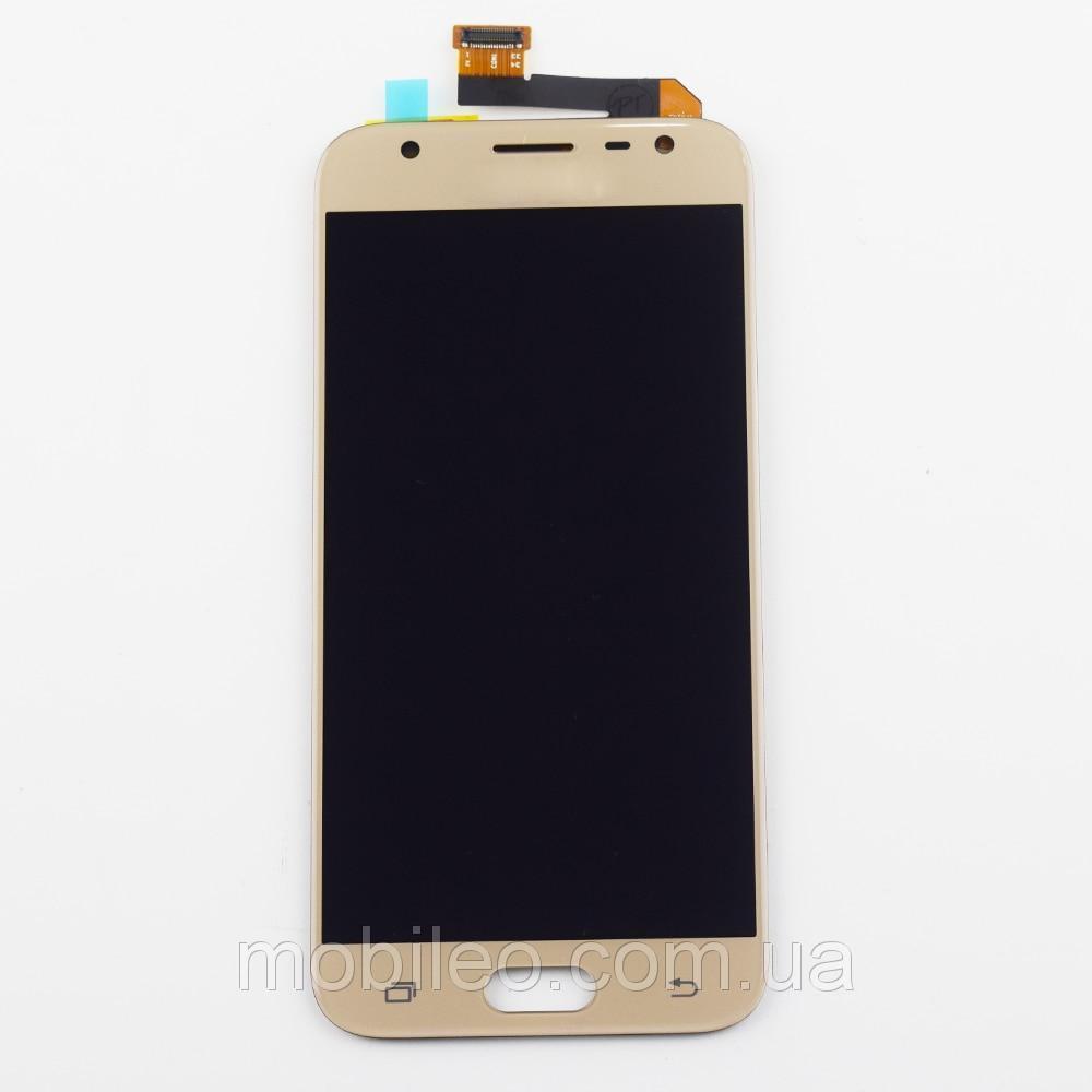 Дисплей (LCD) Samsung J330 Galaxy J3 (2017) Tft (подсветка оригинал) с тачскрином, золотой