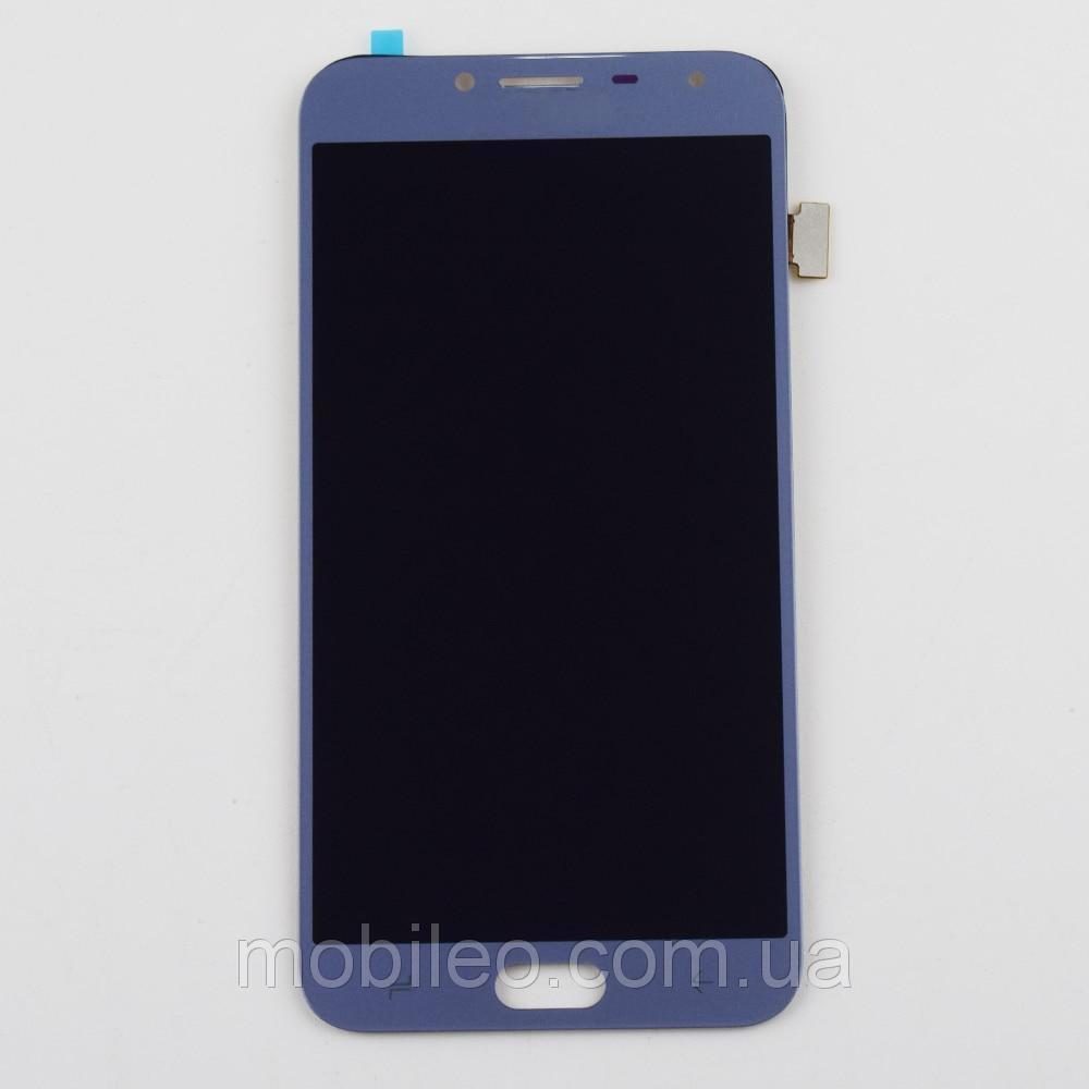 Дисплей (LCD) Samsung J400 Galaxy J4 2018 OLED с тачскрином, голубой
