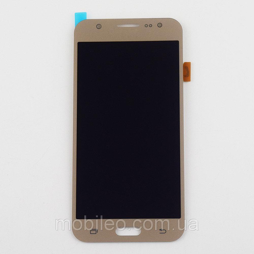 Дисплей (LCD) Samsung J500 Galaxy J5 TFT (подсветка оригинал) с тачскрином, золотой