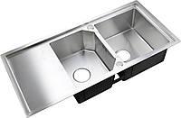 Двойная кухонная мойка с крылом Germece HANDMADE 9645 HD-S029