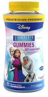 Вітаміни для дітей, Disney Frozen Complete Multi-Vitamin Gummies 180 Count, фото 2
