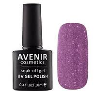 Гель-лак AVENIR Cosmetics №156. Бузково-рожева голографія