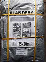 Тент Tenexim Mocny 15*20 м, готовые размеры в асс., плотный 120 г/м2 серебряный с УФ-защитой
