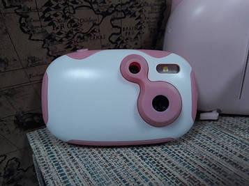 Цифровой детский фотоаппарат Kids creative camera розовый с белым