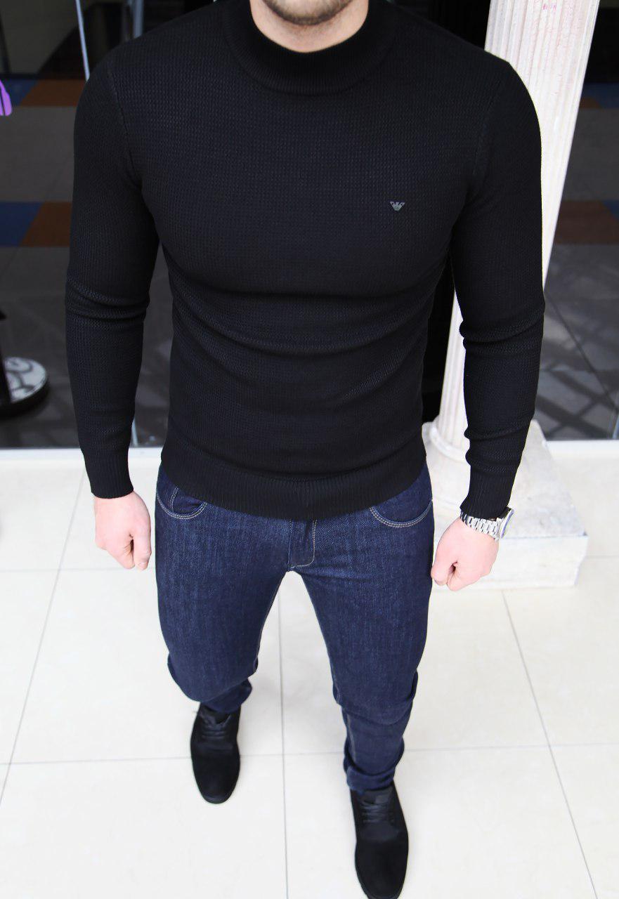 Мужской гольф Armani H0159 черный