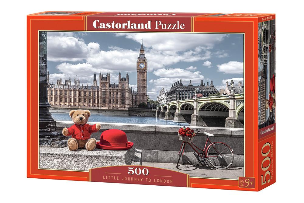 """Пазли касторленд 500 елементів - """"Маленька подорож в Лондон"""" Castorland 53315 Швидка доставка"""