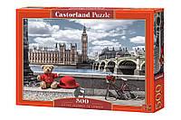 """Пазлы касторленд  500 элементов - """"Маленькое путешествие в Лондон"""" Castorland 53315 Быстрая доставка"""