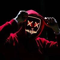 Неоновая маска (LED mask) из фильма Судная ночь Светящаяся Neon Purge Mask красная