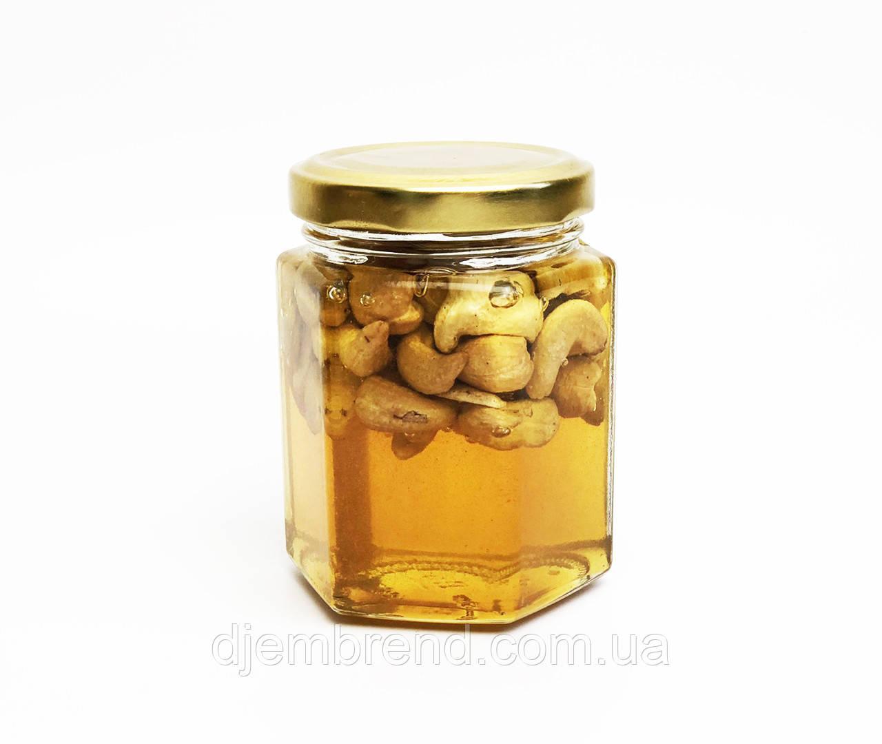 Мёд с кешью, 230 гр. (190 г - мед, 40 г - орехи)