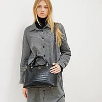 Женская сумка черная среднего размера повседневная
