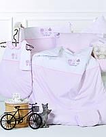 Детский набор - постельное с защитой в кроватку Karaca Home - Cats (13 предметов)