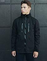 Куртка с капюшоном мужская Staff point black