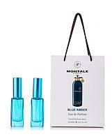 Мини-парфюм в подарочной упаковке Montale Blue Amber  (унисекс) 2 по 20 мл