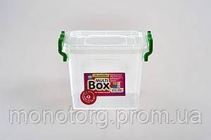 Бокс универсальный с ручками квадратный 0.55 литра № 5