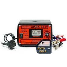 Импульсное зарядное устройство для автомобильного аккумулятора АИДА 11 для гелевых и свинцово-кислотных