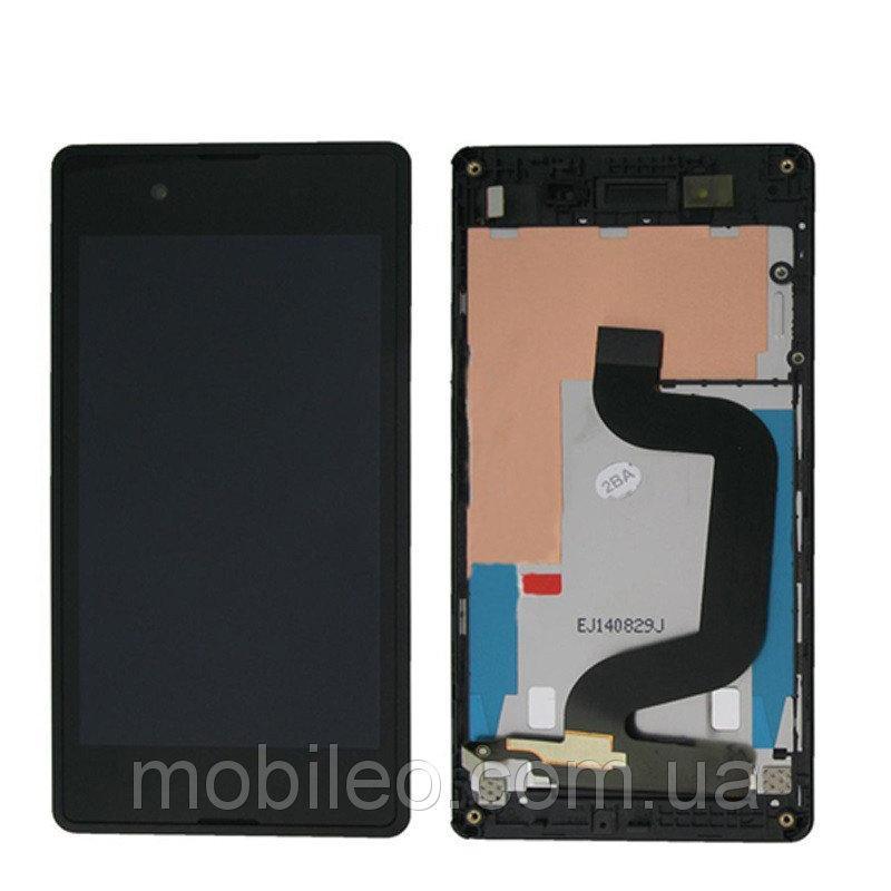 Дисплей (LCD) Sony D2202 Xperia E3 | D2203 | D2206 с тачскрином, чёрный, оригинал (PRC)