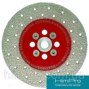 VACUUM BRAZED RED фланец Алмазный отрезной диск для мрамора, двухсторонний на вакуумной пайке с фланцем