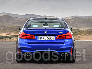 Задний бампер стиль М5 на BMW 5 series G30 17+