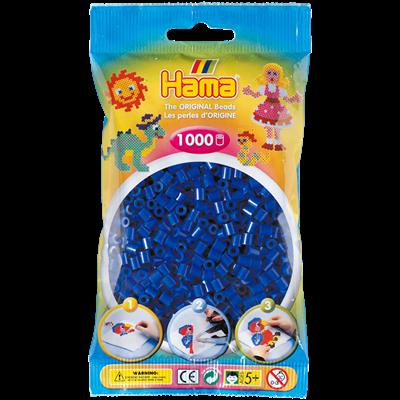 Термомозаика HAMA Набор синих бусин 1000шт, Midi 5+ 207-08