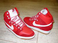 Д400 - Женские ботиночки сникерсы Nike красные