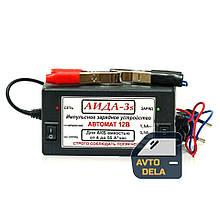 Импульсное зарядное устройство для автомобильного аккумулятора АИДА 3s для гелевых и свинцово-кислотных