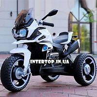Детский трехколесный электрический мотоцикл на мягких колесах для детей от 3 до 6 лет Bambi M 4117EL белый