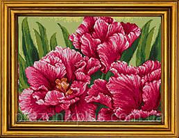 """Схема для вышивания бисером на атласе """"Бархатные тюльпаны"""""""