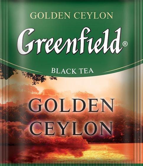 Чай чёрный GREENFIELD цейлонский  10шт