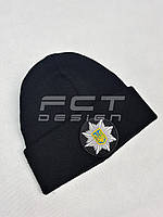Шапка Вязаная с Кокардой Полиция