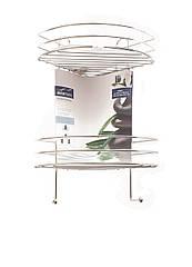 Полочка угловая металл/хром в ванную 30х44х24см Miomare
