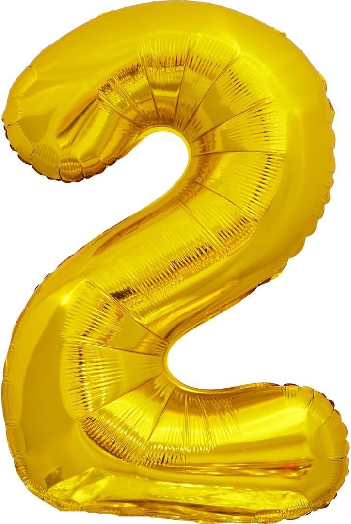 Куля Цифра 2 Золото 70 см (Китай)