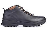 Чоловічі зимові черевики кросівки шкіряні чорні 45 Mida 140065 1