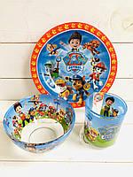 Набор детской посуды для кормления «Щенячий Патруль» 3 предмета