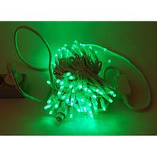 Гірлянда Нитка String Зелений на білому проводі c мерехтінням 10 метр/ 100 led вологозахист IP44 ZF