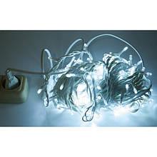 Гірлянда Нитка String підлозі-проф холодно біла з мерехтінням на білому дроті (ПВХ) (9 метр 100 led) вологозахист IP44 DDF