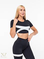 Спортивный Женский Топик Nova Vega Black&White