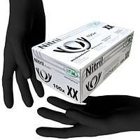 Рукавички нітрилові SFM чорні без пудри 100шт