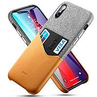 Чохол ESR для iPhone XS Max Metro Wallet, Gray+Brown (4894240067468), фото 1