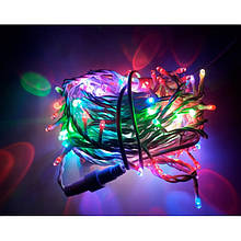Гірлянда Нитка String підлозі-проф Різнобарвна на білому дроті (ПВХ) (15 метр 200 led) вологозахист IP44 KXC
