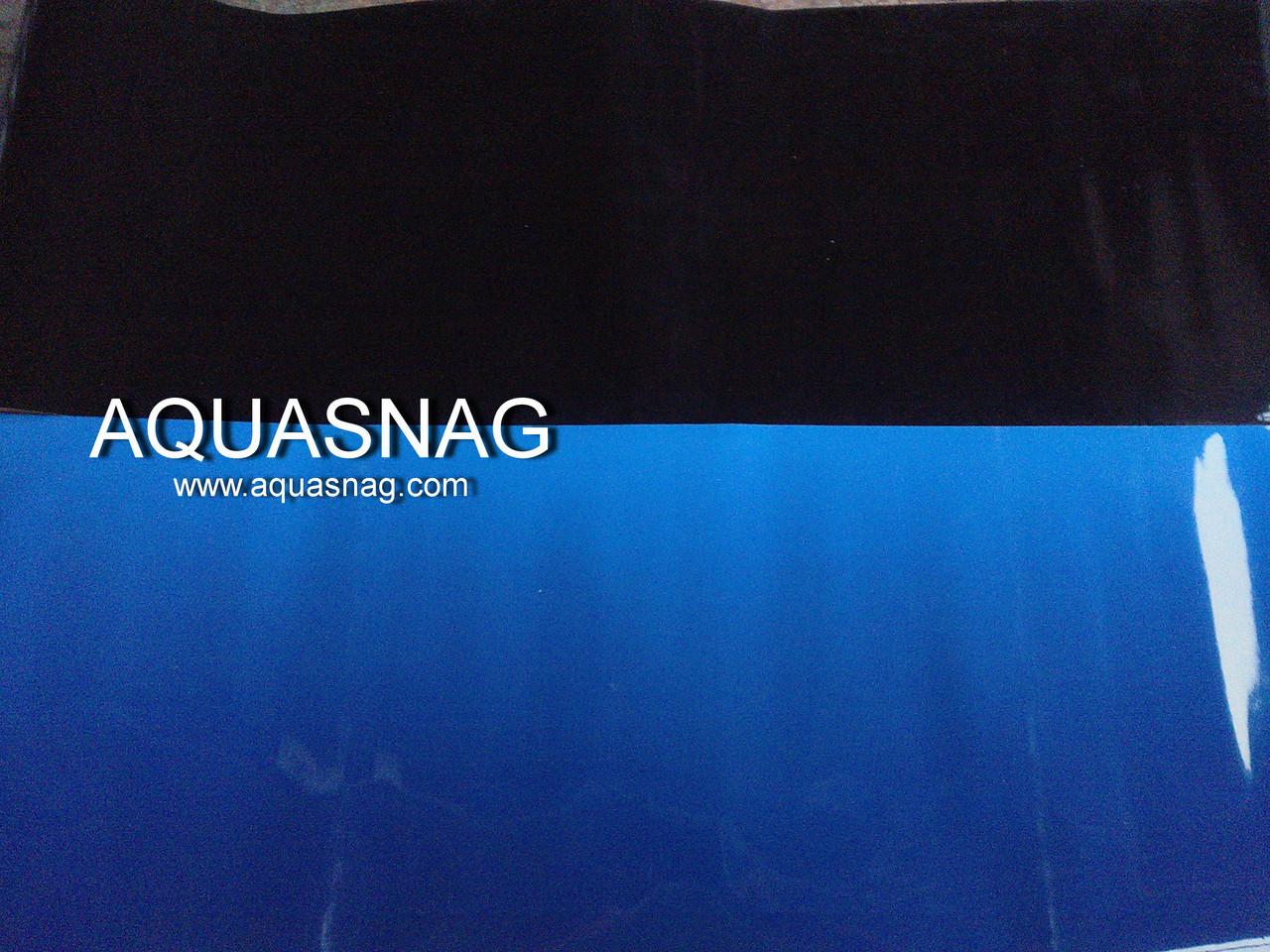 Фон плотный двухсторонний, высота 60cм(черный-синий), цена за 15м